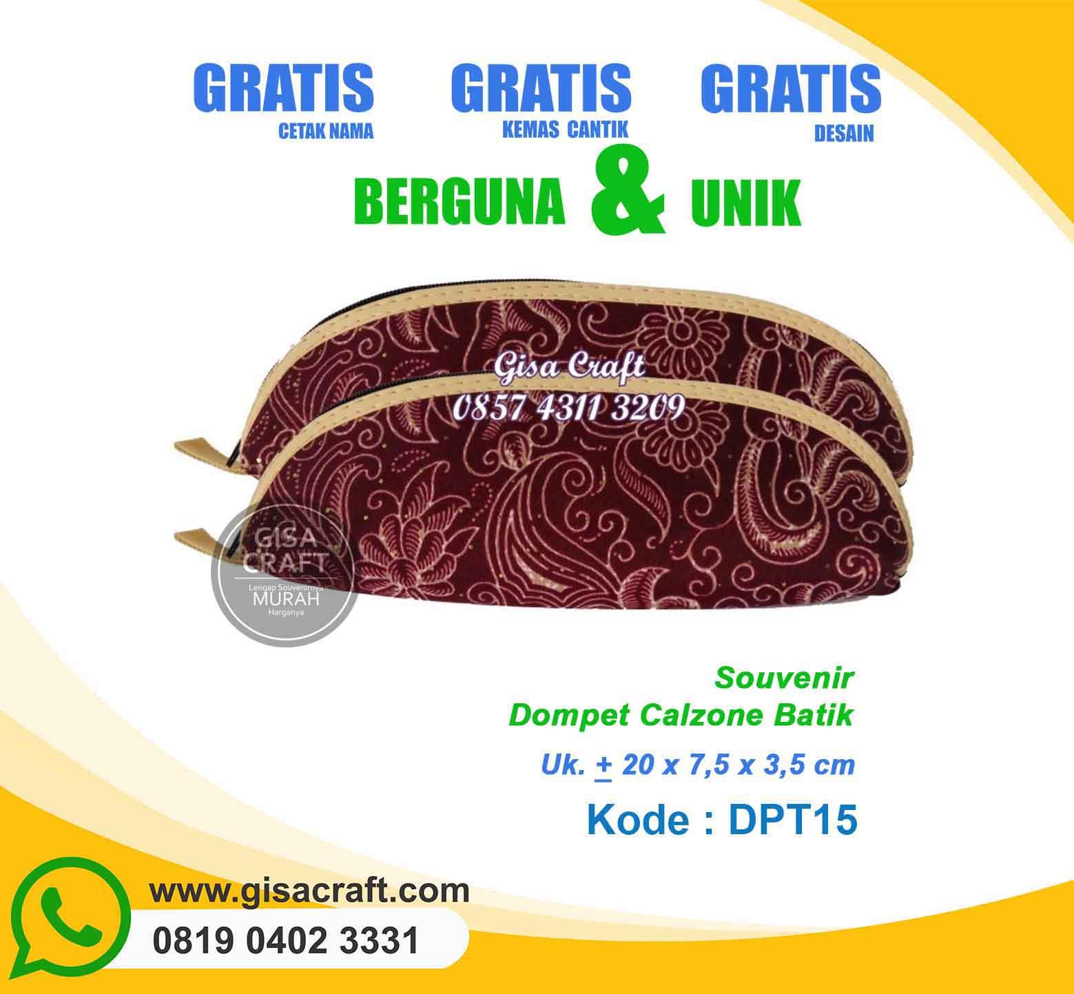 Souvenir Dompet Batik DPT15