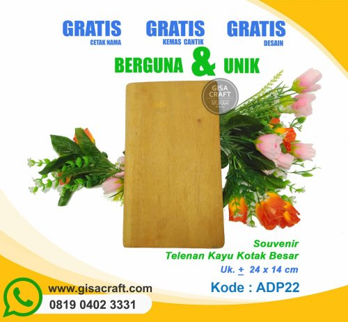 Souvenir Talenan Kayu Kotak Besar ADP22