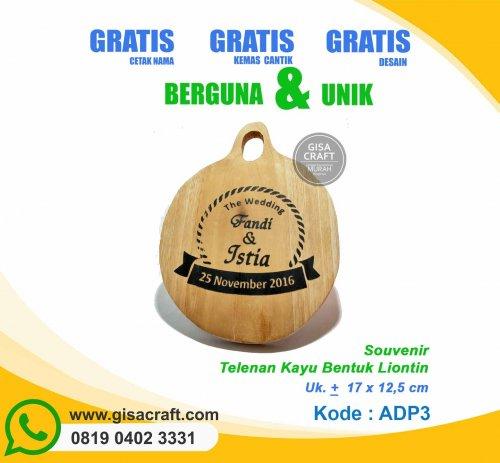 Souvenir Talenan Kayu Bentuk Liontin ADP3