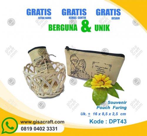 Souvenir Dompet Busa Lapis Kain Furing DPT43