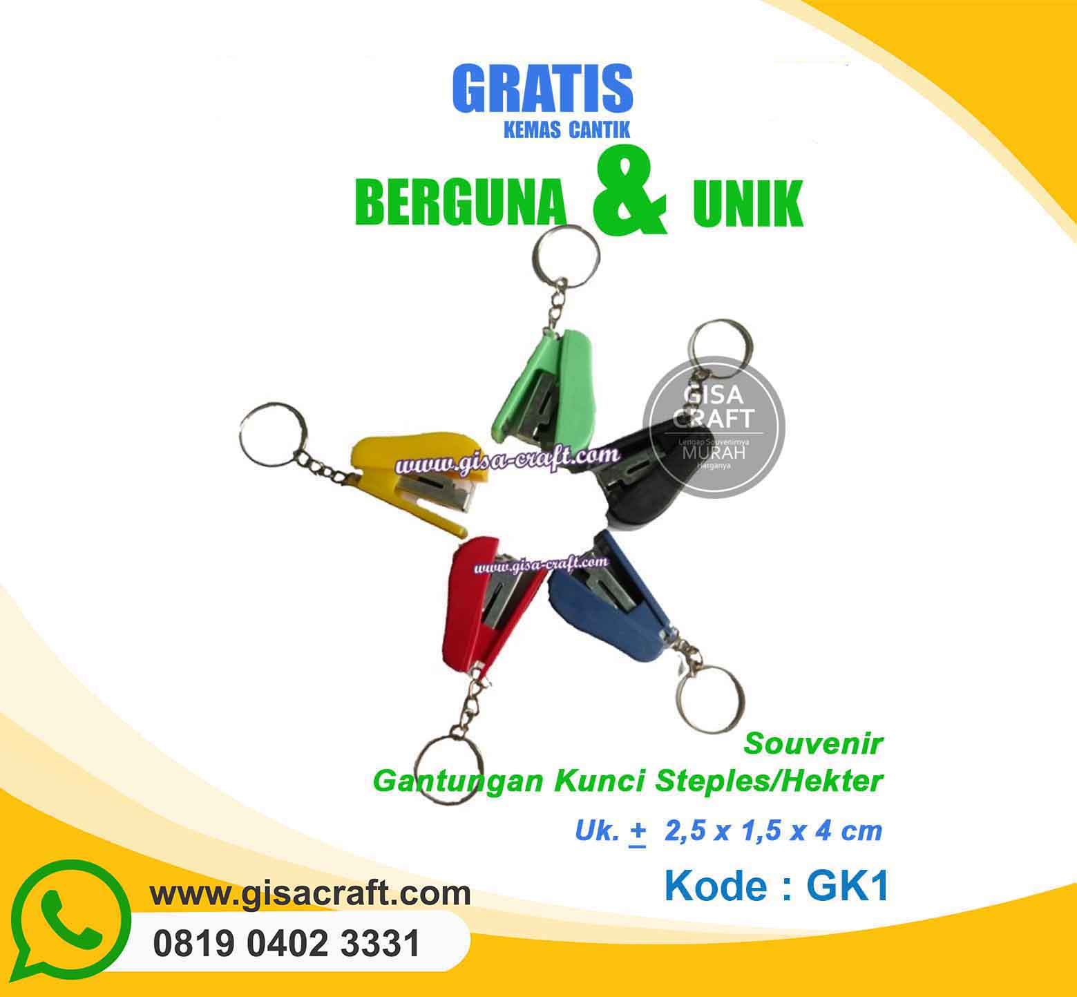 Souvenir Gantungan Kunci Hekter GK1