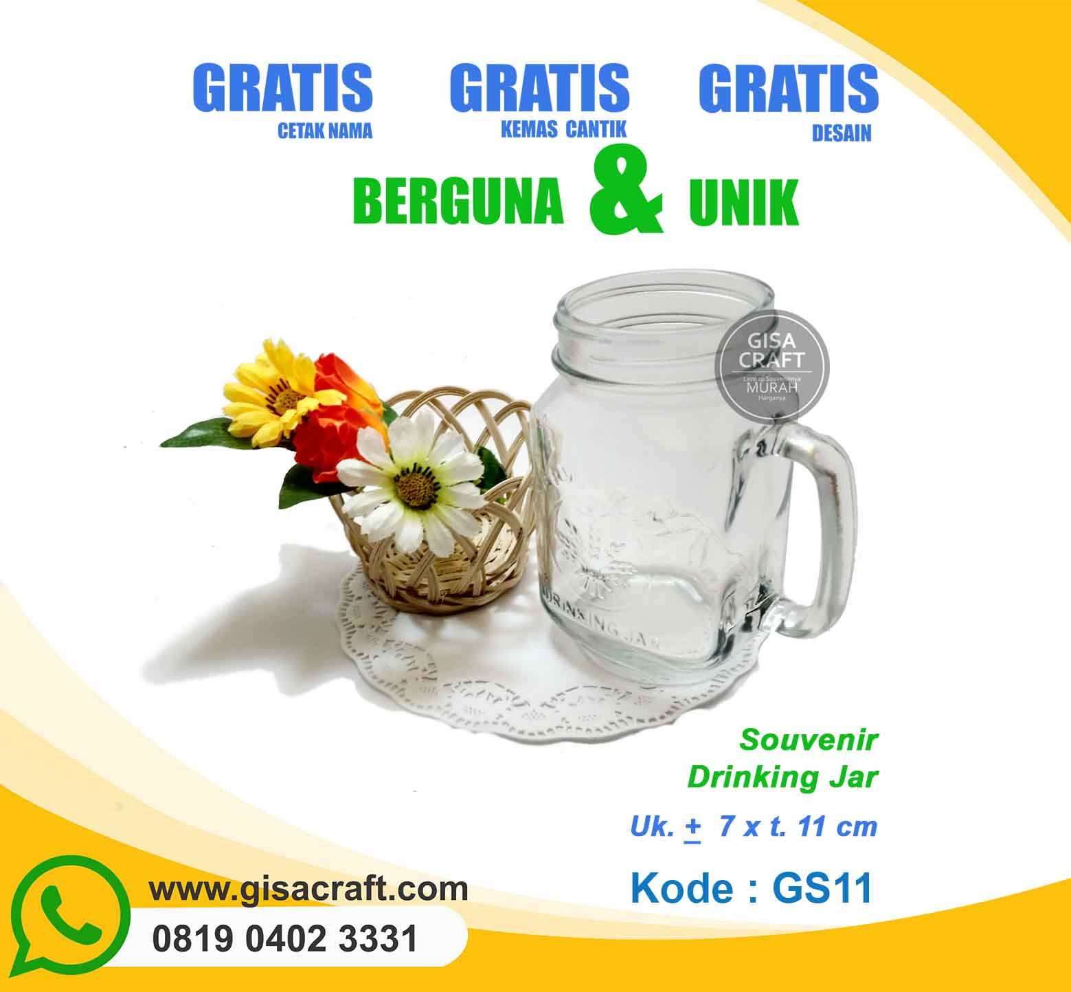 Souvenir Drinking Jar GS11