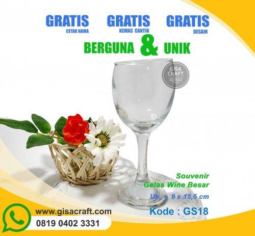 Souvenir Gelas Wine Besar GS18