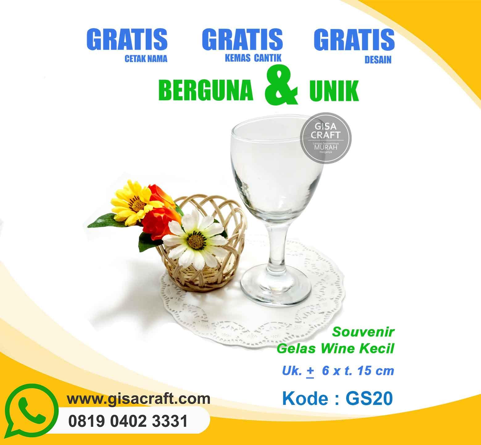 Souvenir Gelas Wine Kecil GS20