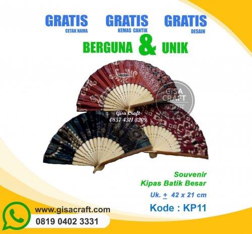 Souvenir Kipas Batik Medium KP11