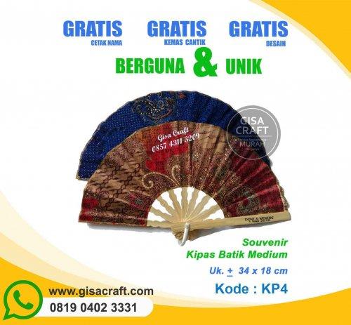 Souvenir Kipas Batik Medium KP4