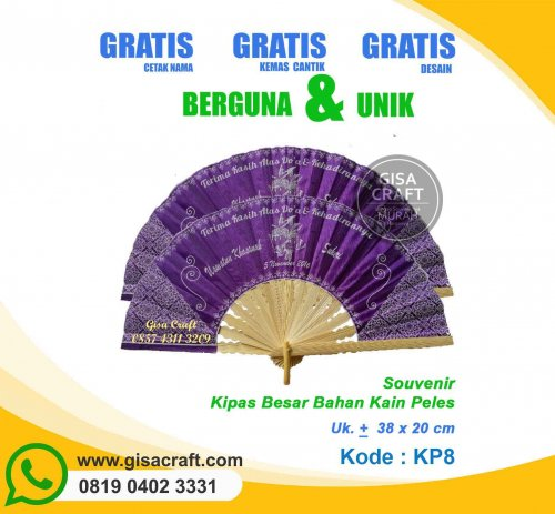 Souvenir Kipas Kain Peles Besar KP8