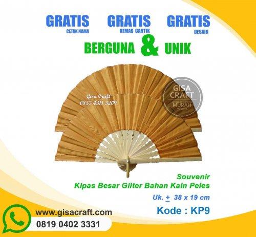 Souvenir Kipas Kain Peles Besar Mix Glitter KP9