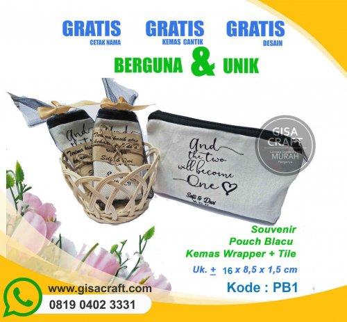 Souvenir Pouch Blacu Kemas Wrappaper PB1