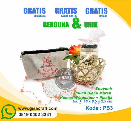 Souvenir Pouch Blacu Murah Kemas Wrappaper + Plastik PB3