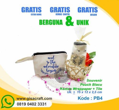 Souvenir Pouch Blacu Kemas Wrappaper + Tile PB4