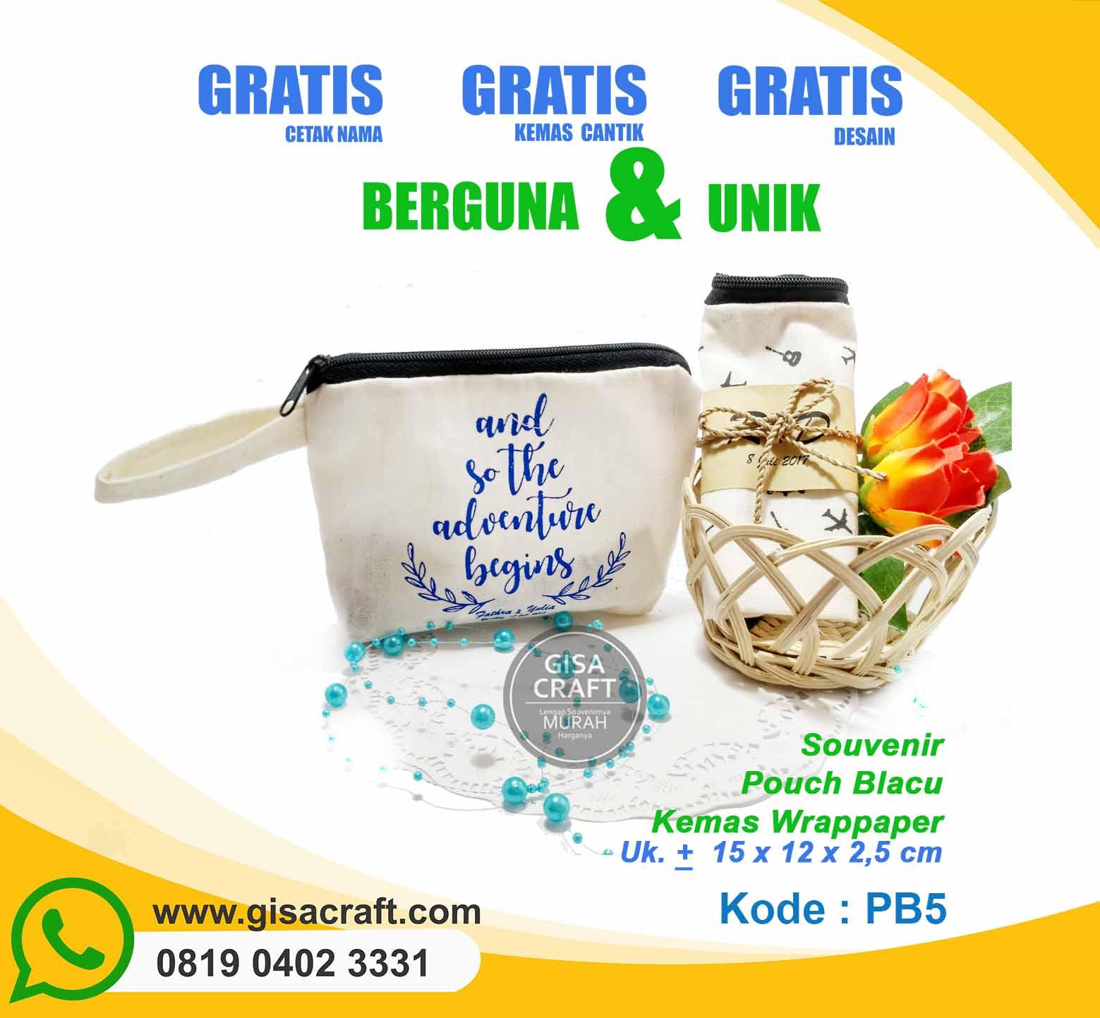 Souvenir Pouch Blacu Kemas Wrappaper PB5