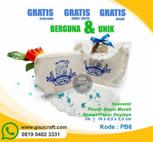 Souvenir Pouch Blacu Murah Kemas Paper Doyleys PB6