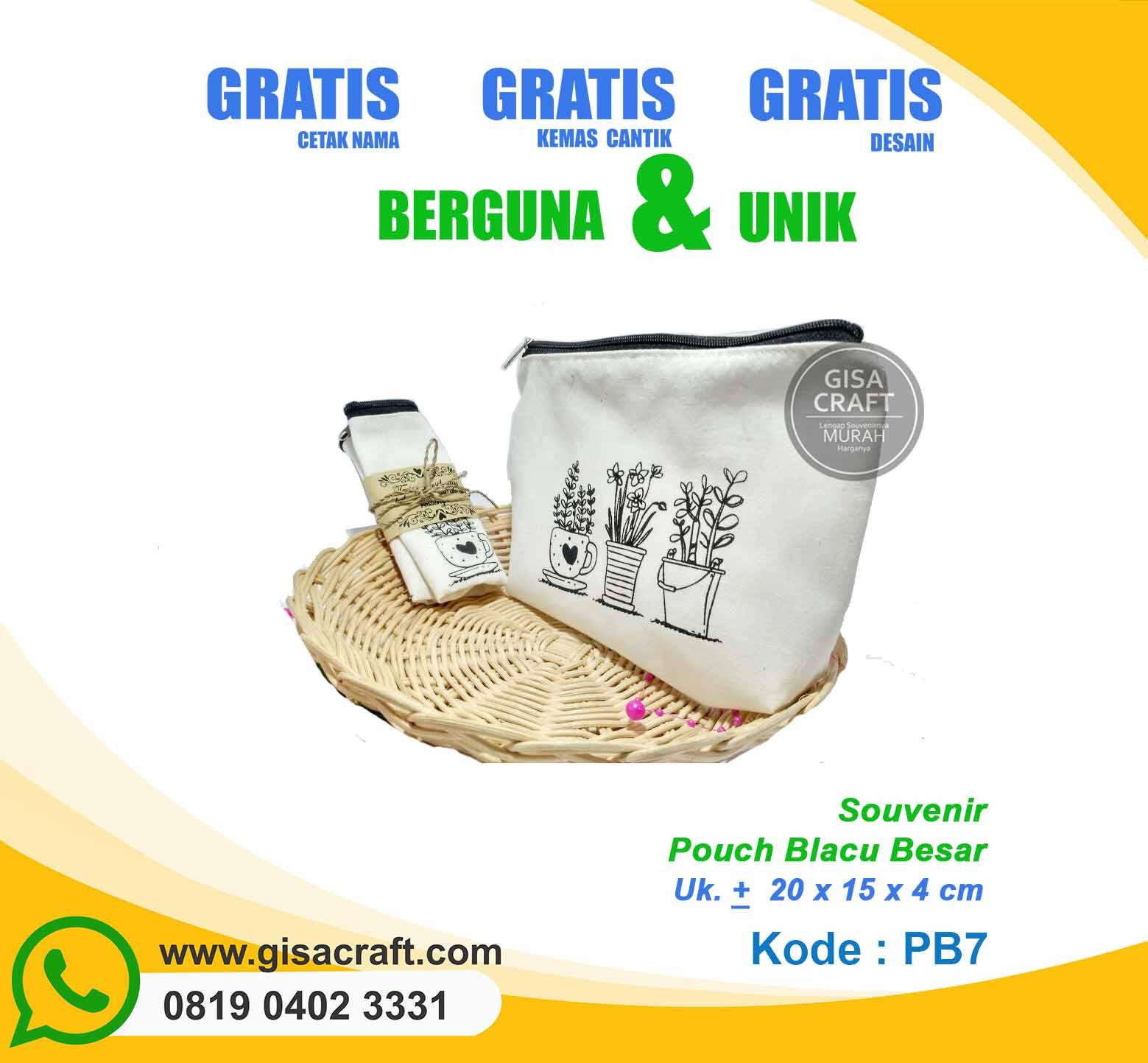 Souvenir Pouch Blacu Besar PB7