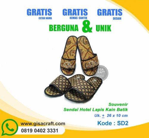 Souvenir Sendal Hotel Lapis Kain Batik SD2