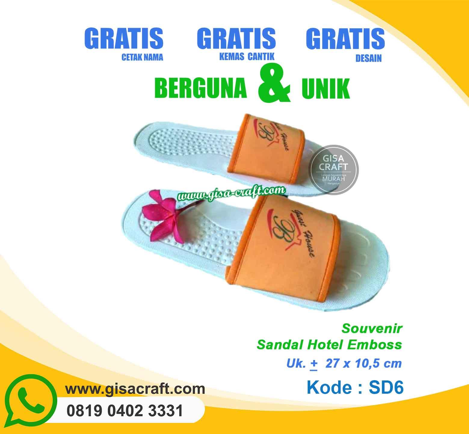 Souvenir Sandal Hotel Emboss SD6