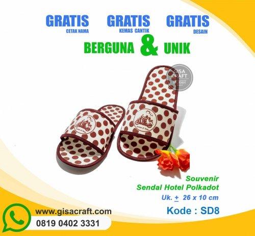 Souvenir Sandal Hotel Polkadot SD8