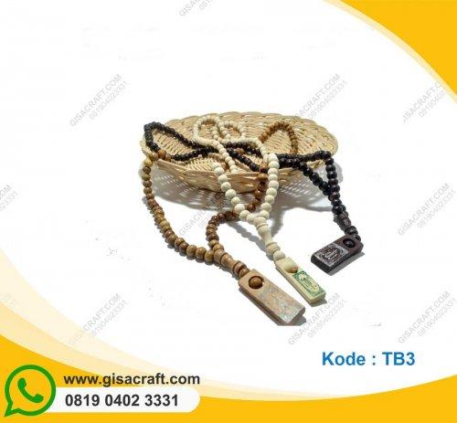 Souvenir Tasbih Kayu Panjang 99 Butir TB3