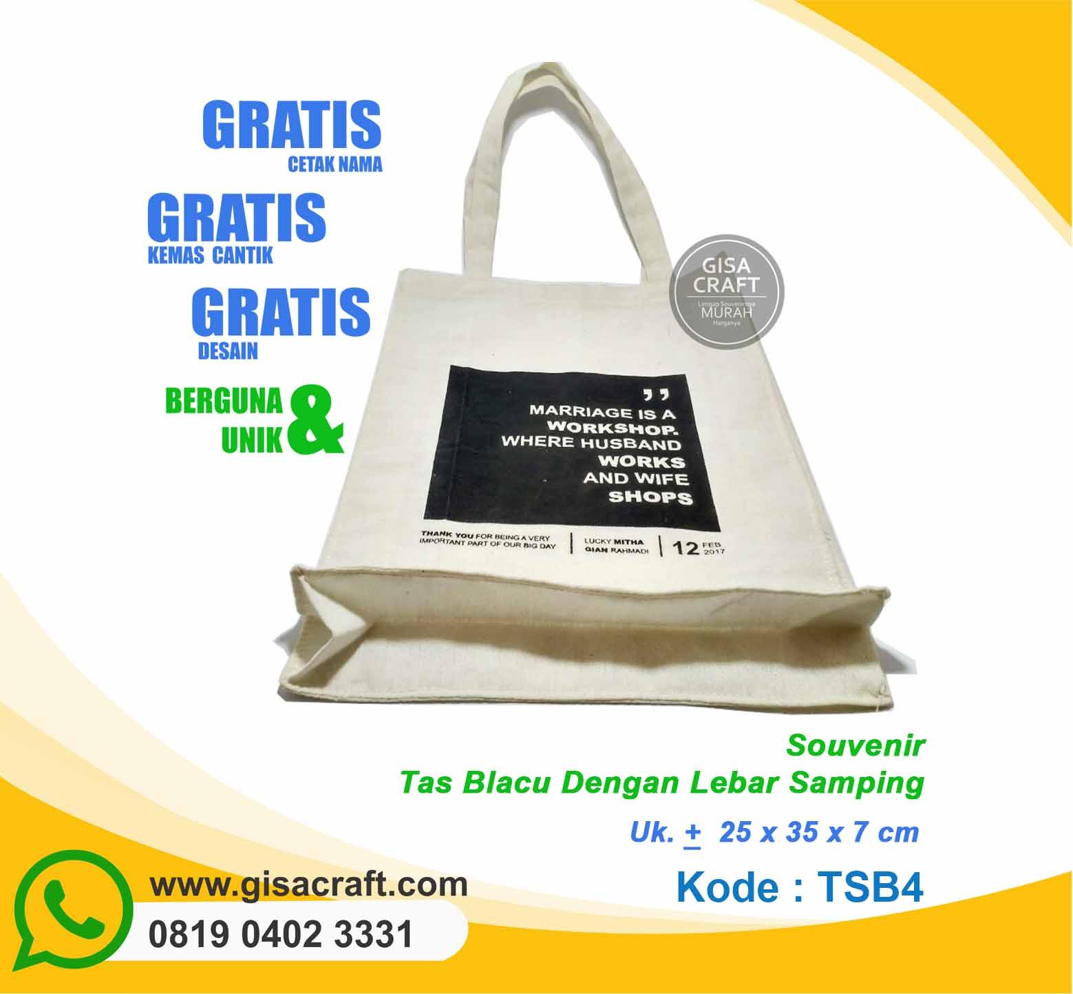 Souvenir Tas Blacu Dengan Lebar Samping TSB4