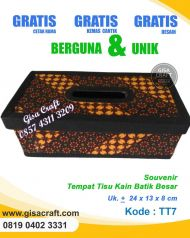 Souvenir Tempat Tisu Kain Batik Besar TT7