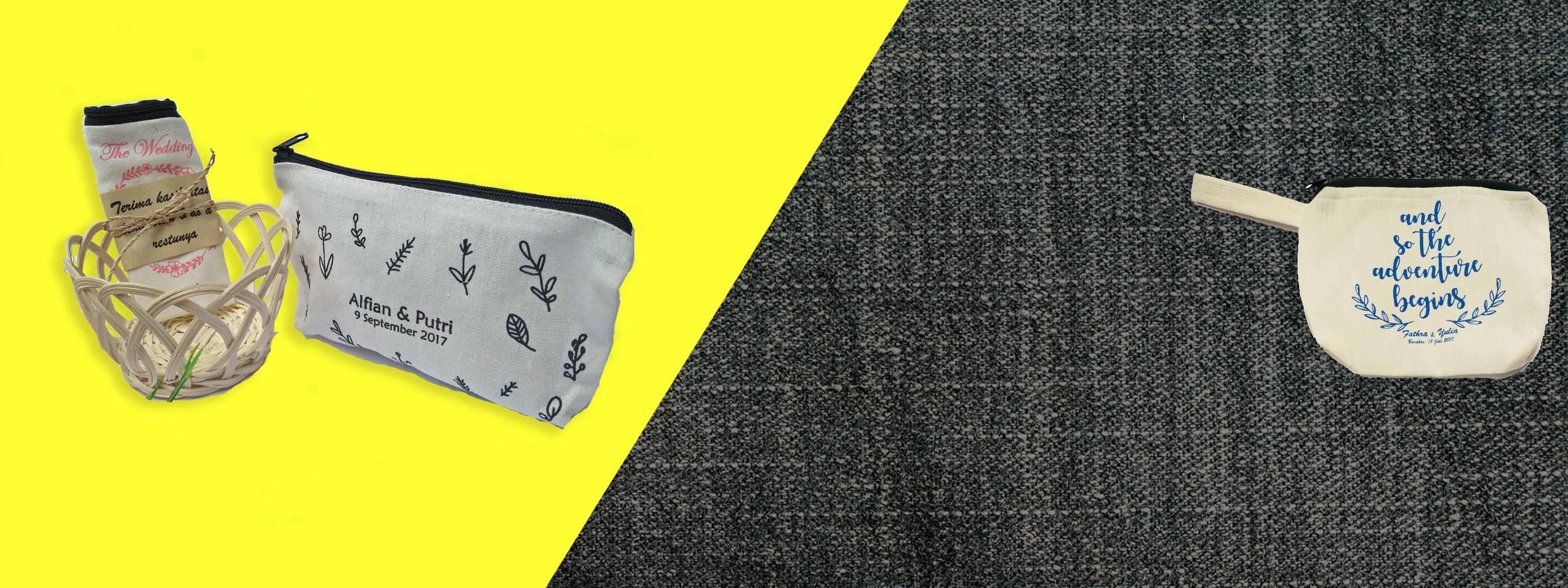 Souvenir dompet pouch blacu