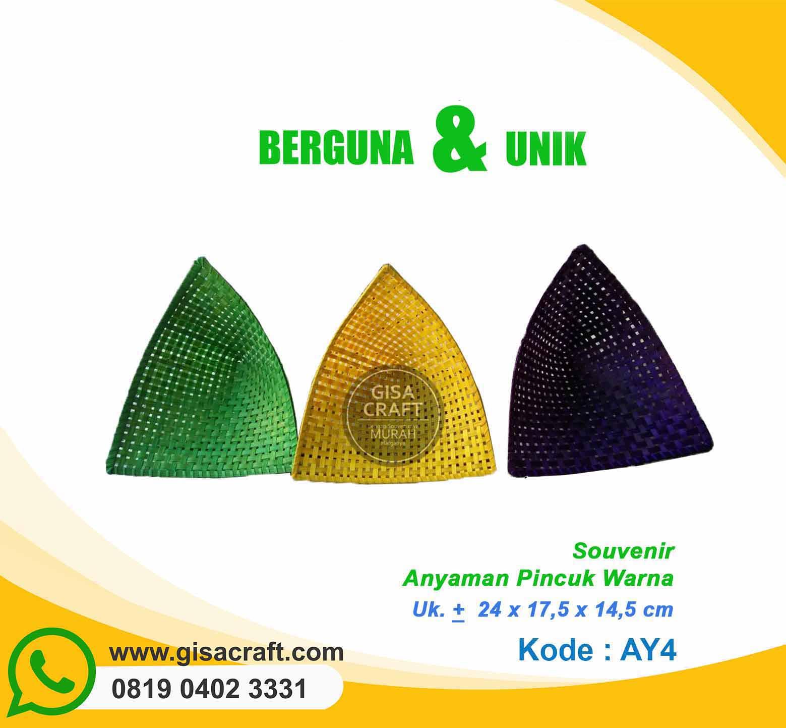 Souvenir Anyaman Pincuk Warna AY4