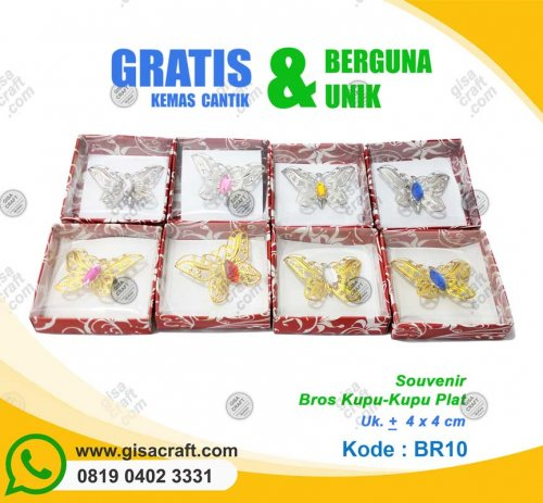 Souvenir Bros Kupu-Kupu Plat BR10