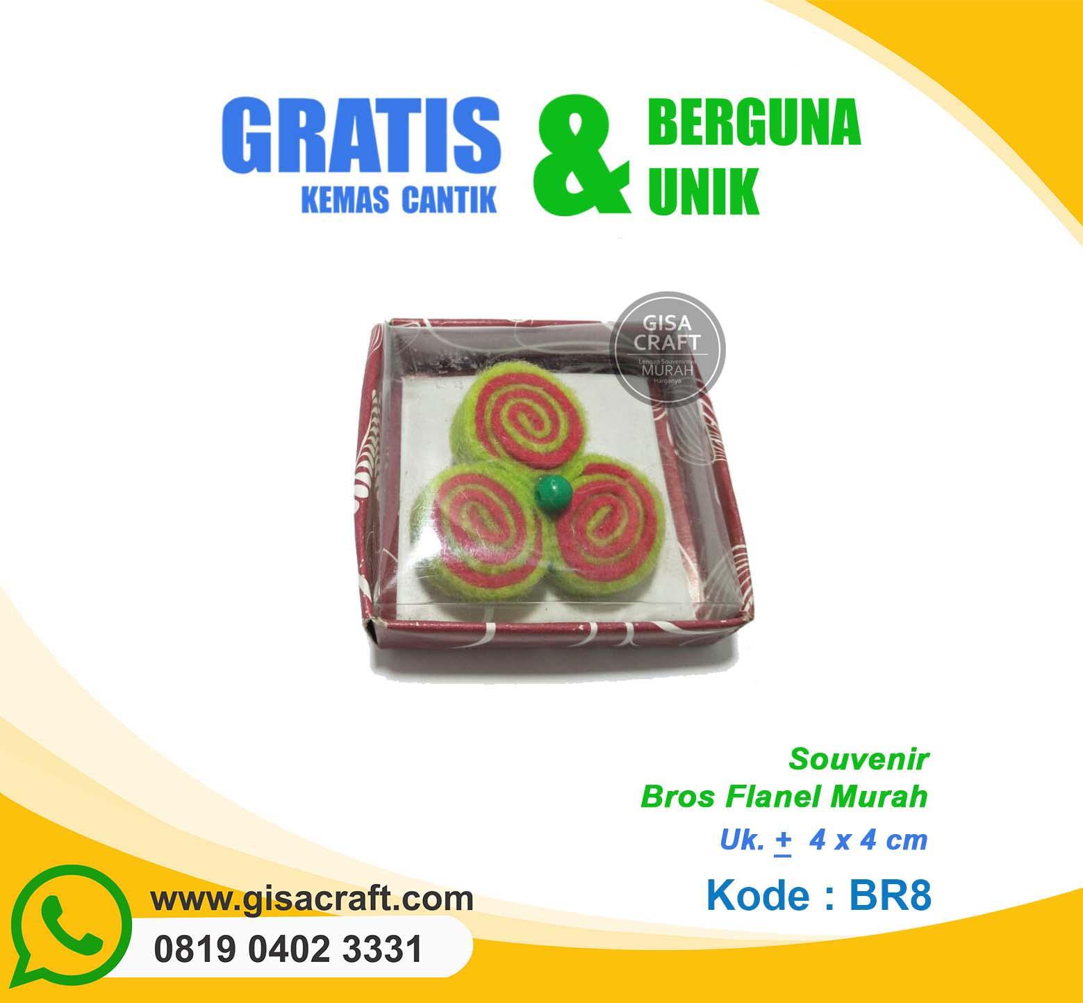 Souvenir Bros Flanel Murah BR8