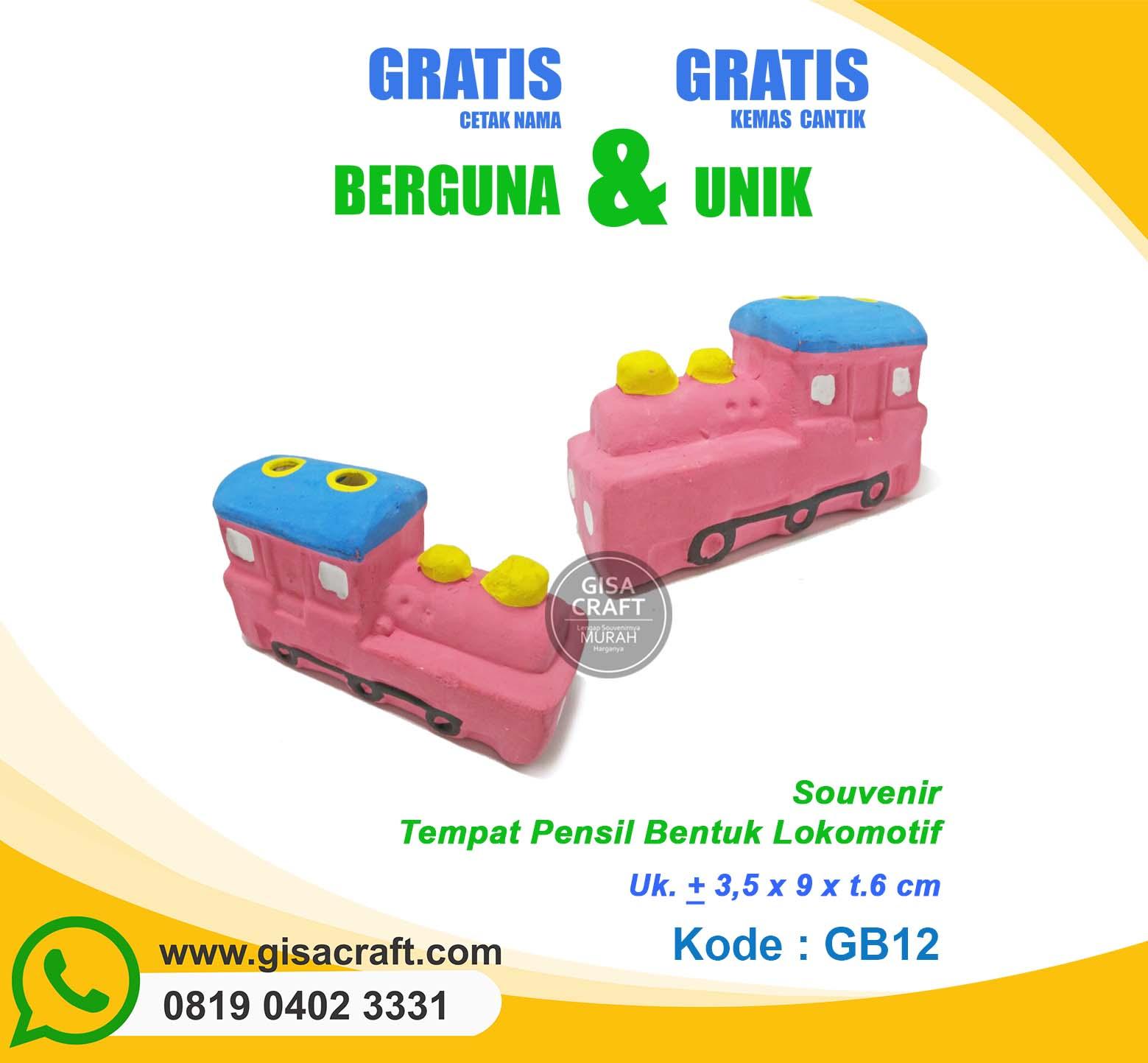 Souvenir Gerabah Tempat Pensil Bentuk Lokomotif GB12