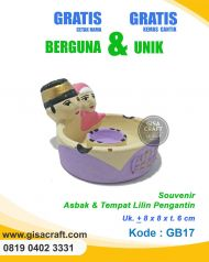 Souvenir Gerabah Asbak & Tempat Lilin Pengantin GB17