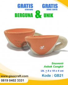 Souvenir Gerabah Asbak Cangkir GB21