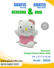 Souvenir Gerabah Tempat Pensil Hello Kitty GB28