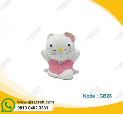 Souvenir Gerabah Tempat Pensil Hello Kitty GB28