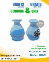Souvenir Gerabah Vas Bunga Mini GB29