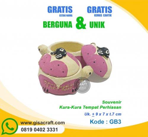 Souvenir Gerabah Kura-Kura Tempat Perhiasan GB3