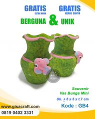 Souvenir Gerabah Vas Bunga Mini GB4