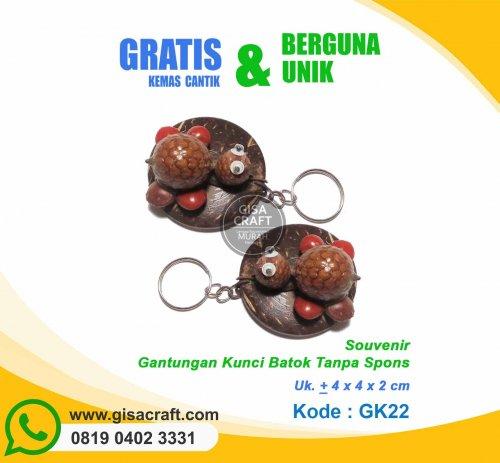 Souvenir Gantungan Kunci Batok Tanpa Spons GK22