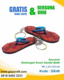 Souvenir Gatungan Kunci Sandal Batik GK48