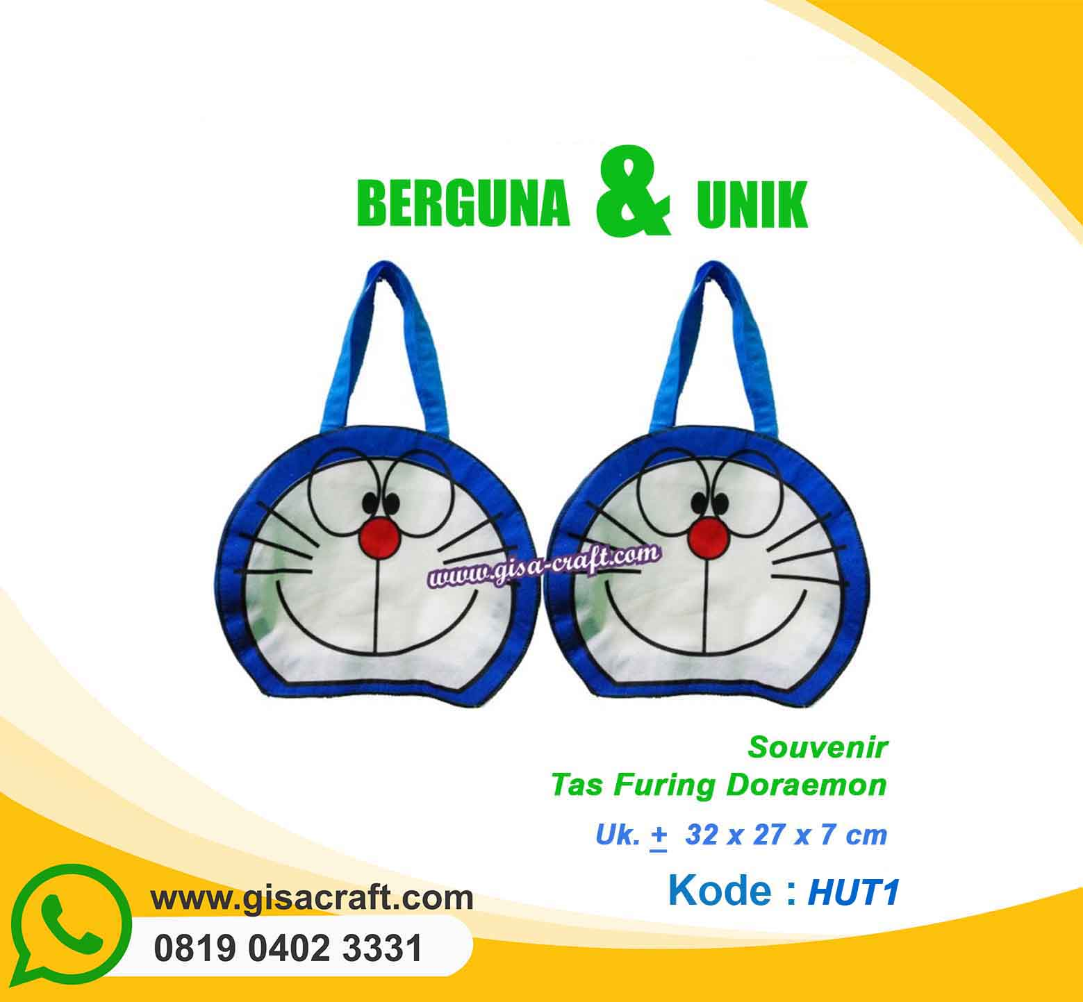 Souvenir Tas Furing Doraemon HUT1