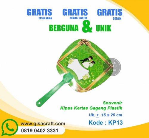 Souvenir Kipas Kertas Gagang Plastik KP13