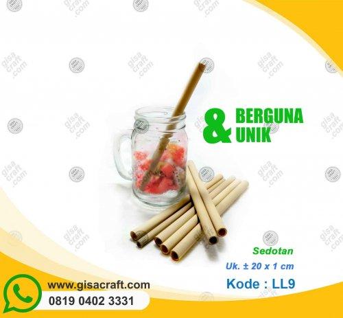 Sedotan Kayu Bambu LL9