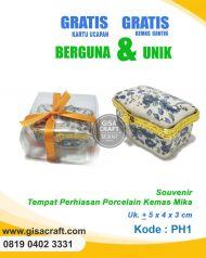 Souvenir Tempat perhiasan Porcelain Kemas Mika PH1