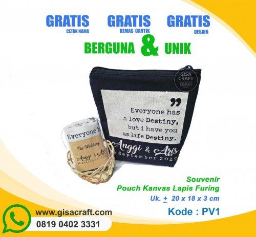 Souvenir Pouch Kanvas Kemas Tile PV1