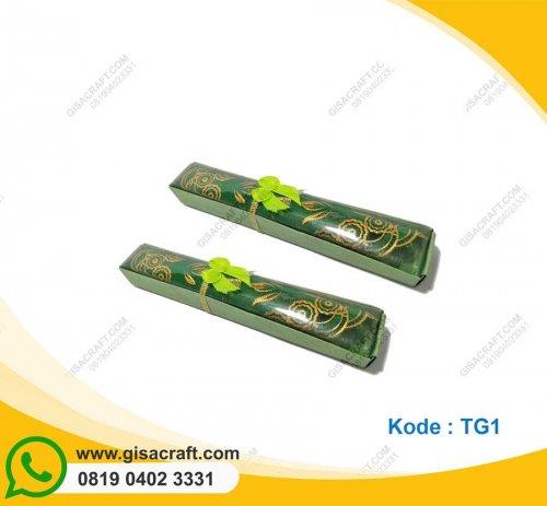 Souvenir Tatakan Gelas Kemas Box TG1