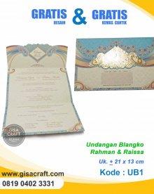 Undangan Blangko Rahman & Raissa UB1