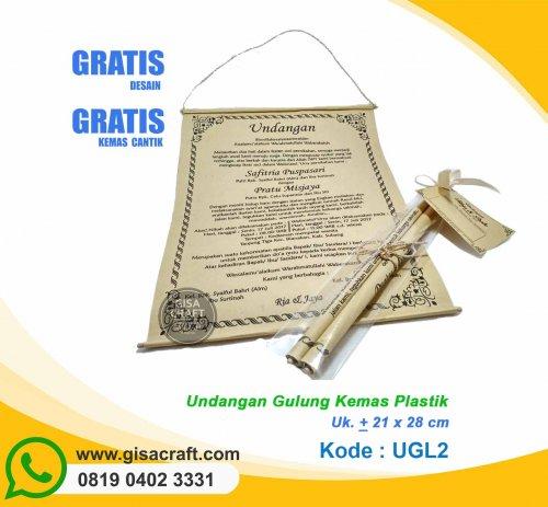 Undangan Gulung Kemas Plastik UGL2
