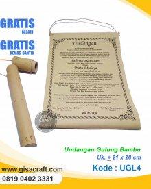 Undangan Gulung Bambu UGL4