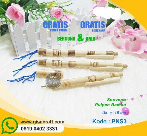 Souvenir Pulpen Bambu PNS3