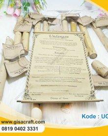 undangan Gulung Bambu Medium UGL5