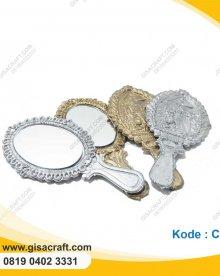 Souvenir Cermin Oval Gold & Silver CR4